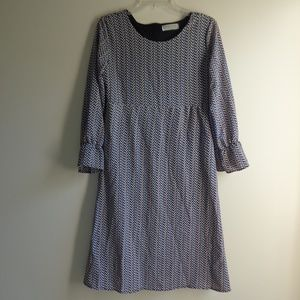 Dresses & Skirts - Pattern Long Sleeve Dress with Bell Sleeves